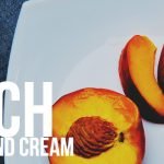 Peach with Almond Cream